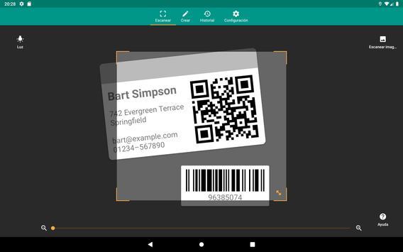 Lector de códigos QR y barras (español) captura de pantalla 10