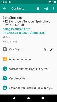 Lector de códigos QR y barras (español) captura de pantalla 2
