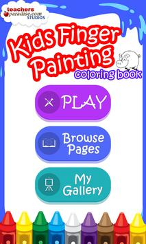 Kids Finger Painting Coloring poster