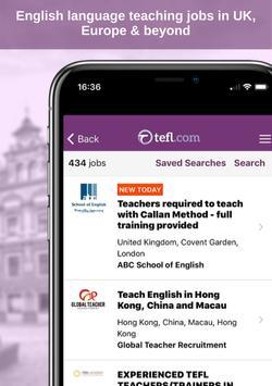 10 Schermata Job Search TEFL.com