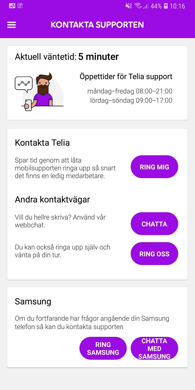 telia chatt mobil
