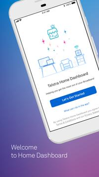 Telstra Home Dashboard™ Affiche