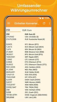 Einheiten Umrechnen + Wahrungsrechner Screenshot 2