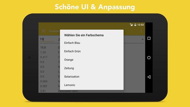 Einheiten Umrechnen + Wahrungsrechner Screenshot 12