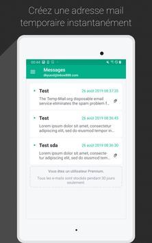 Temp Mail capture d'écran 5