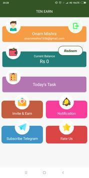 Ten Earn - Most Wanted App Of 2019 screenshot 1