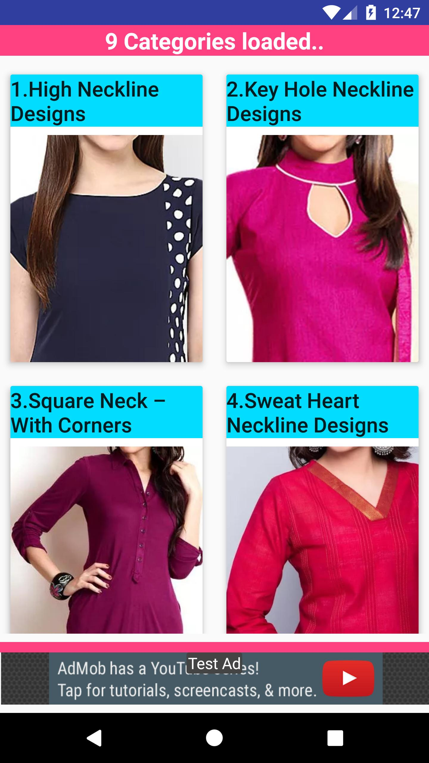 Latest Salwar Neck Designs Collection Hd 2019 For Android Apk