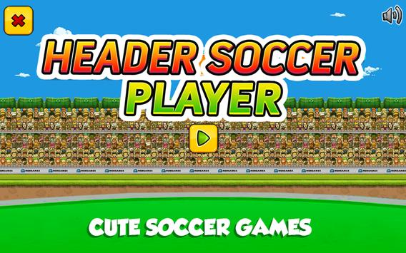 Head Soccer Player poster