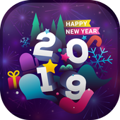 New Year 2019 Live Wallpaper - New Year Theme icon