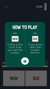 New Number : Test Your Memory screenshot 1