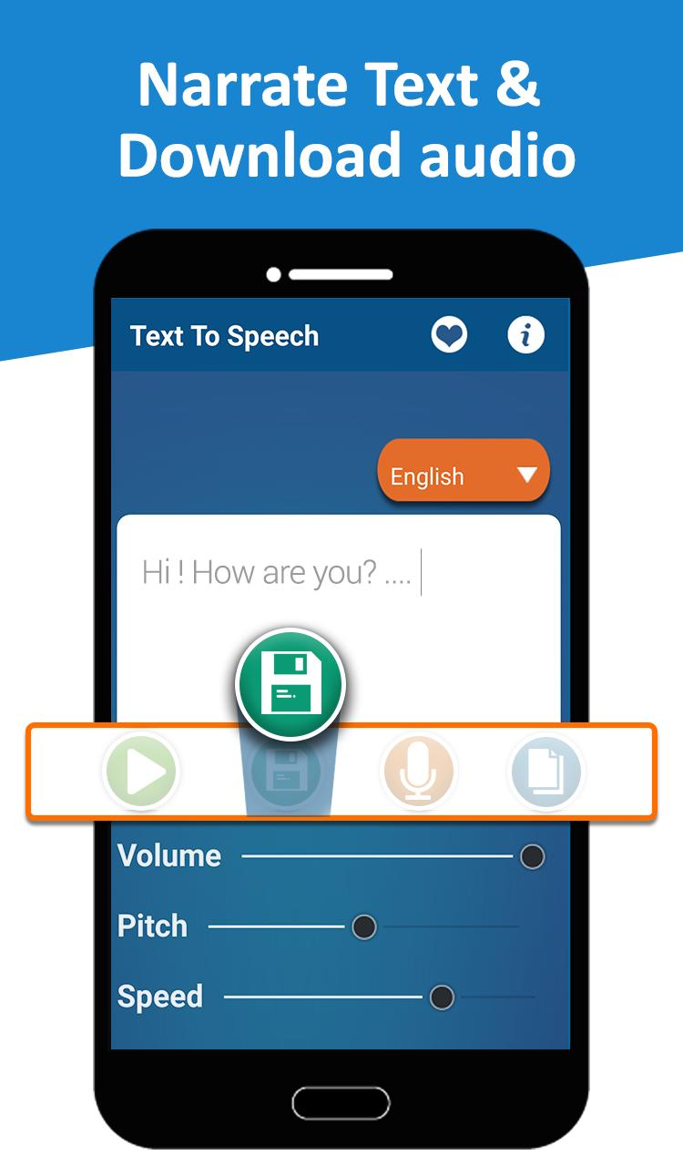 Text to Speech (TTS) - Text Reader & Converter for Android - APK