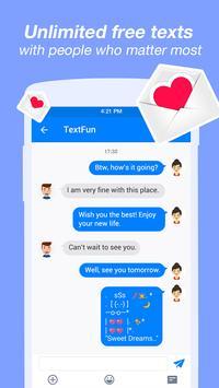 الرسائل النصية والمكالمات المجانية الملصق