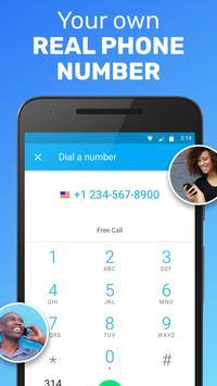 Text Me: Text Free, Call Free, Second Phone Number ảnh chụp màn hình 1