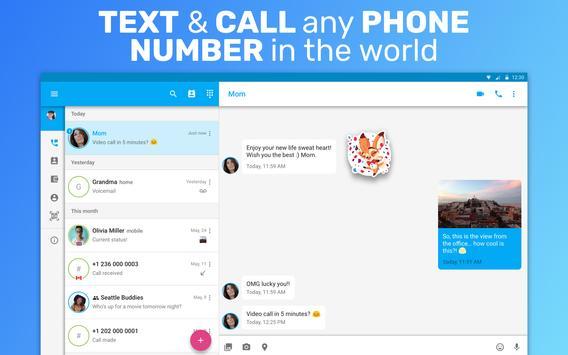 Text Me: Text Free, Call Free, Second Phone Number ảnh chụp màn hình 5