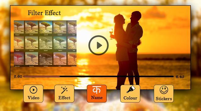 Video Par Name Likhe : Video Editor 2019 screenshot 3