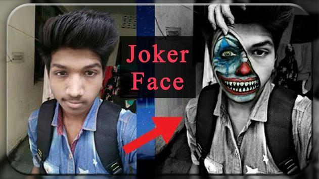 Joker Mask Photo Editor - Joker Mask Clown on Face