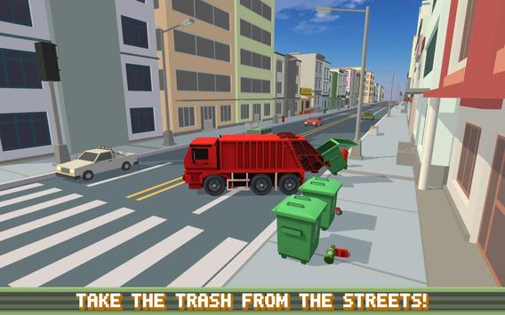 Blocky Garbage Truck SIM PRO screenshot 3