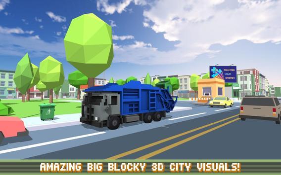 Blocky Garbage Truck SIM PRO poster