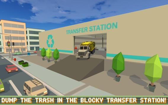 Blocky Garbage Truck SIM PRO screenshot 10