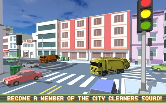 Blocky Garbage Truck SIM PRO screenshot 16