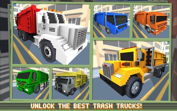 Blocky Garbage Truck SIM PRO screenshot 17