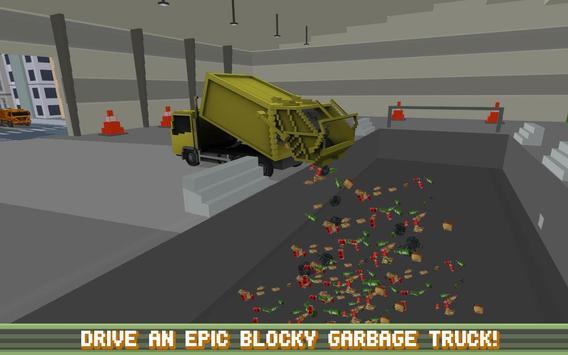 Blocky Garbage Truck SIM PRO screenshot 1