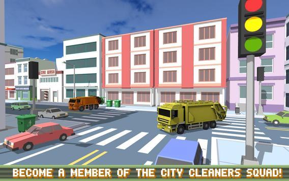 Blocky Garbage Truck SIM PRO screenshot 2