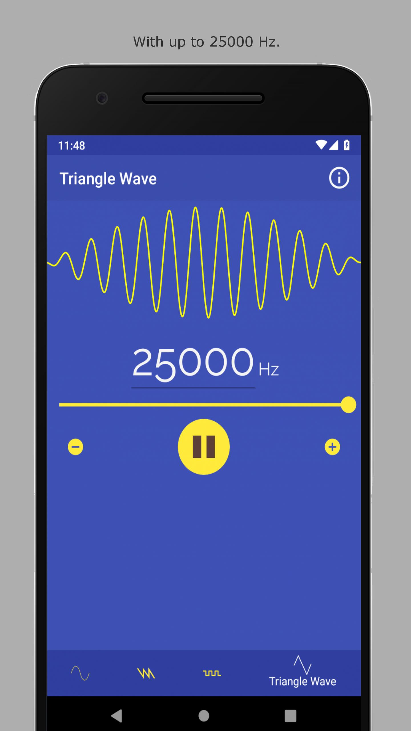 Sound Frequency Generator ♫ (1Hz - 25kHz) for Android - APK