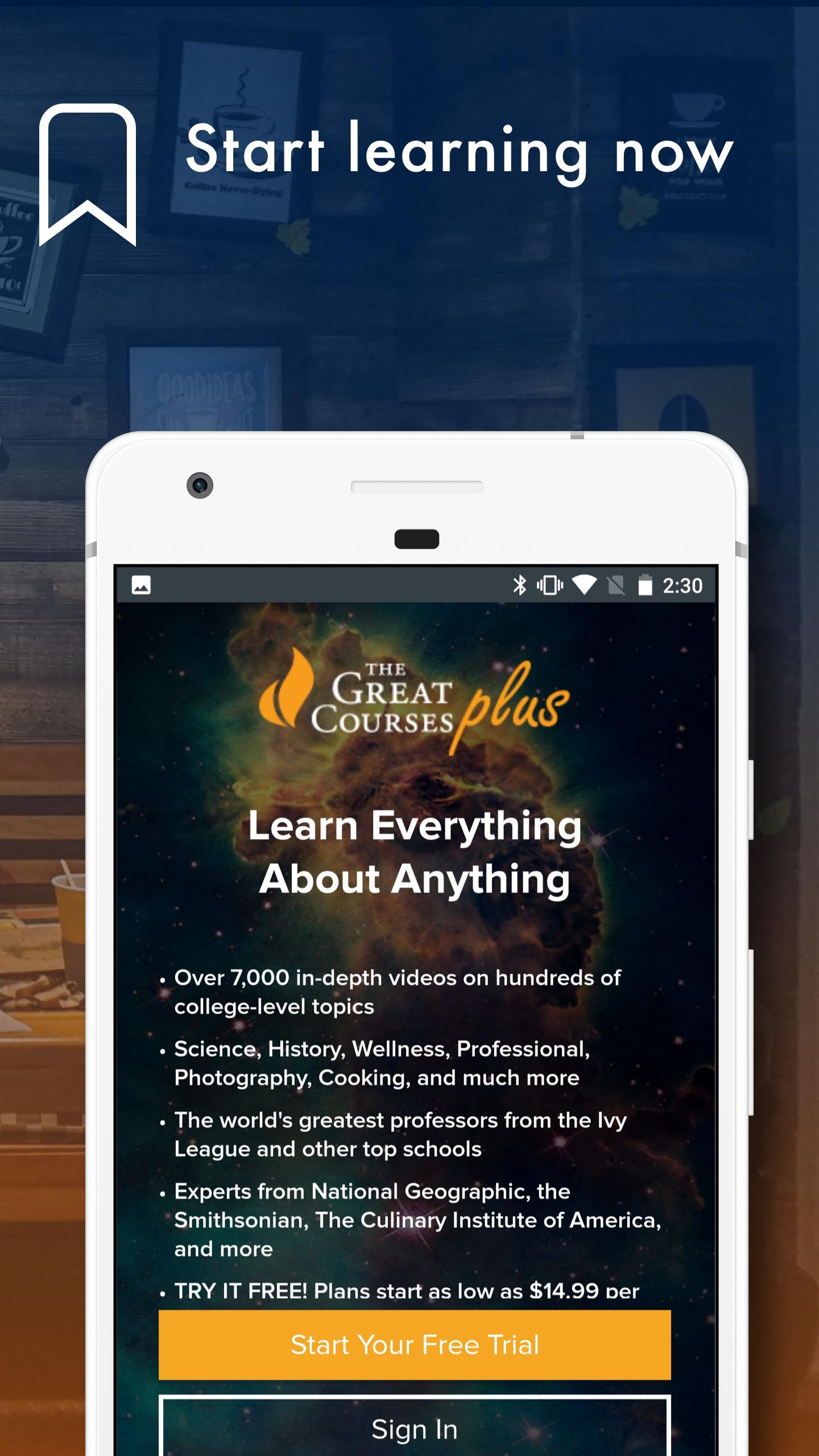 The Great Courses Plus for Android - APK Download
