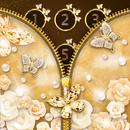 Gold Butterfly Diamond Zipper Lock APK Android