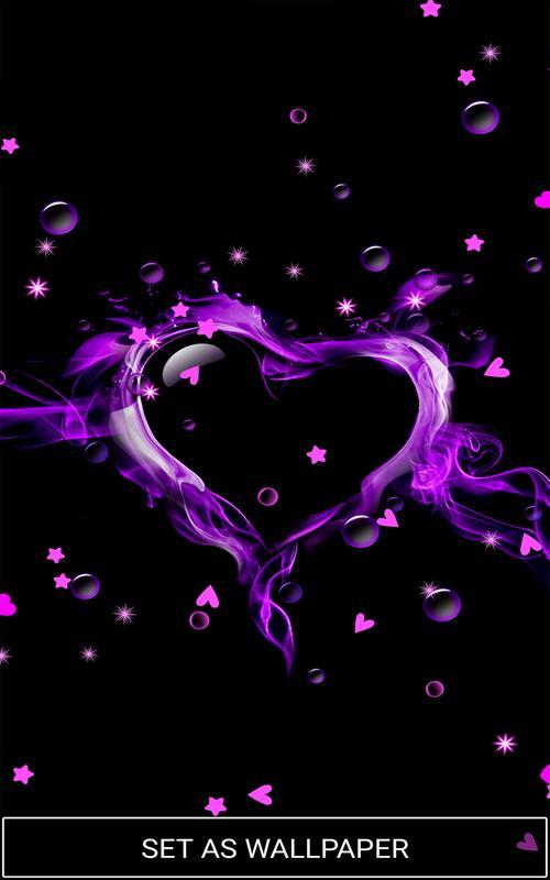 ... Purple Love Heart Live hd Wallpaper screenshot 5 ...