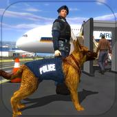 Polícia Dog Aeroporto Crime ícone