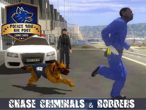 Polícia Dog Aeroporto Crime Cartaz