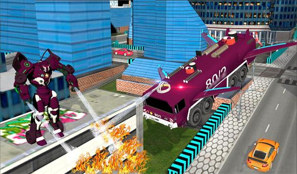 Real Robot fire fighter Truck: Rescue Robot Truck screenshot 19
