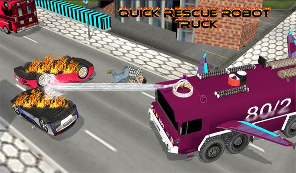 Real Robot fire fighter Truck: Rescue Robot Truck screenshot 20