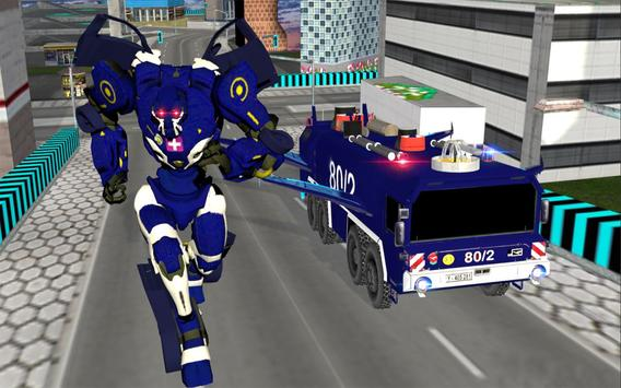 Real Robot fire fighter Truck: Rescue Robot Truck screenshot 7