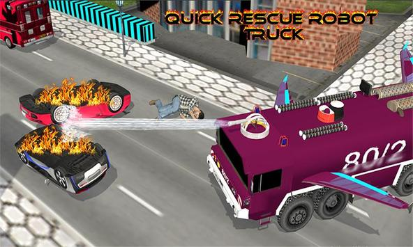 Real Robot fire fighter Truck: Rescue Robot Truck screenshot 6