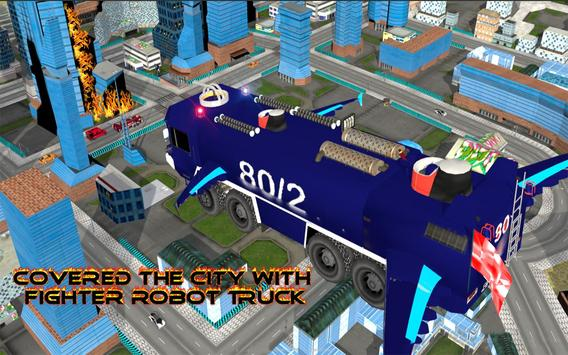 Real Robot fire fighter Truck: Rescue Robot Truck screenshot 9