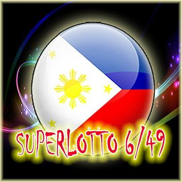 Super Lotto 6/49 Philippine - Divine the result poster