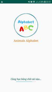 Learning alphabets for kids poster