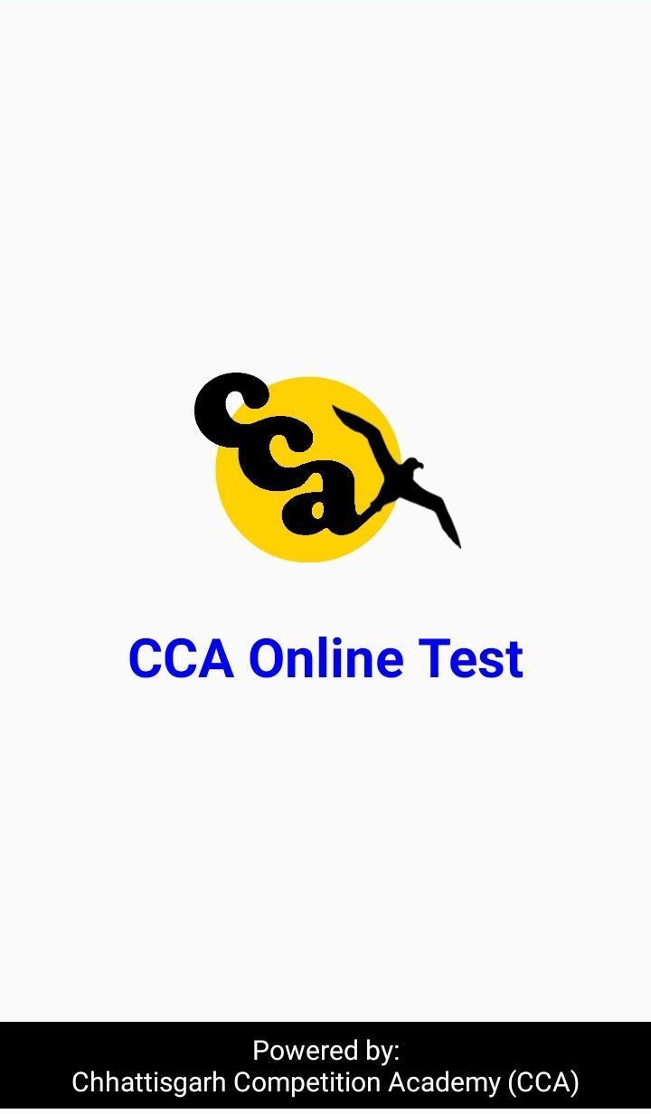 CCA Online Test poster
