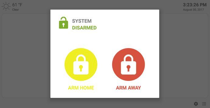MQTT Alarm Control Panel syot layar 9