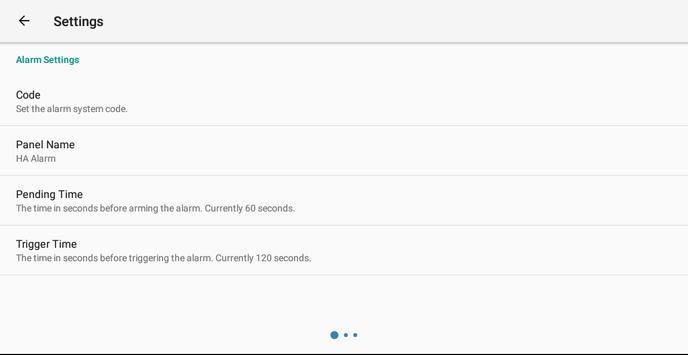 MQTT Alarm Control Panel syot layar 13