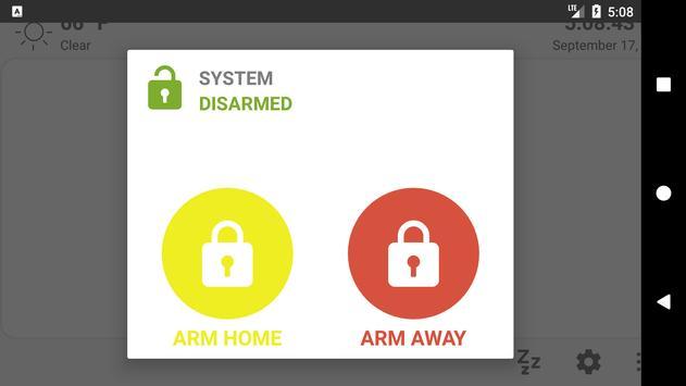 MQTT Alarm Control Panel syot layar 1