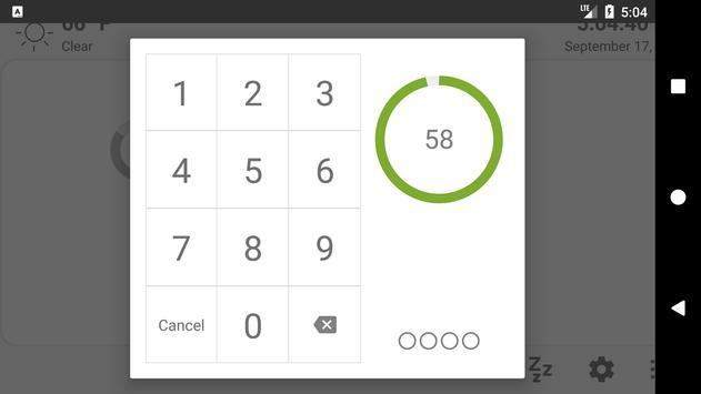 MQTT Alarm Control Panel syot layar 3