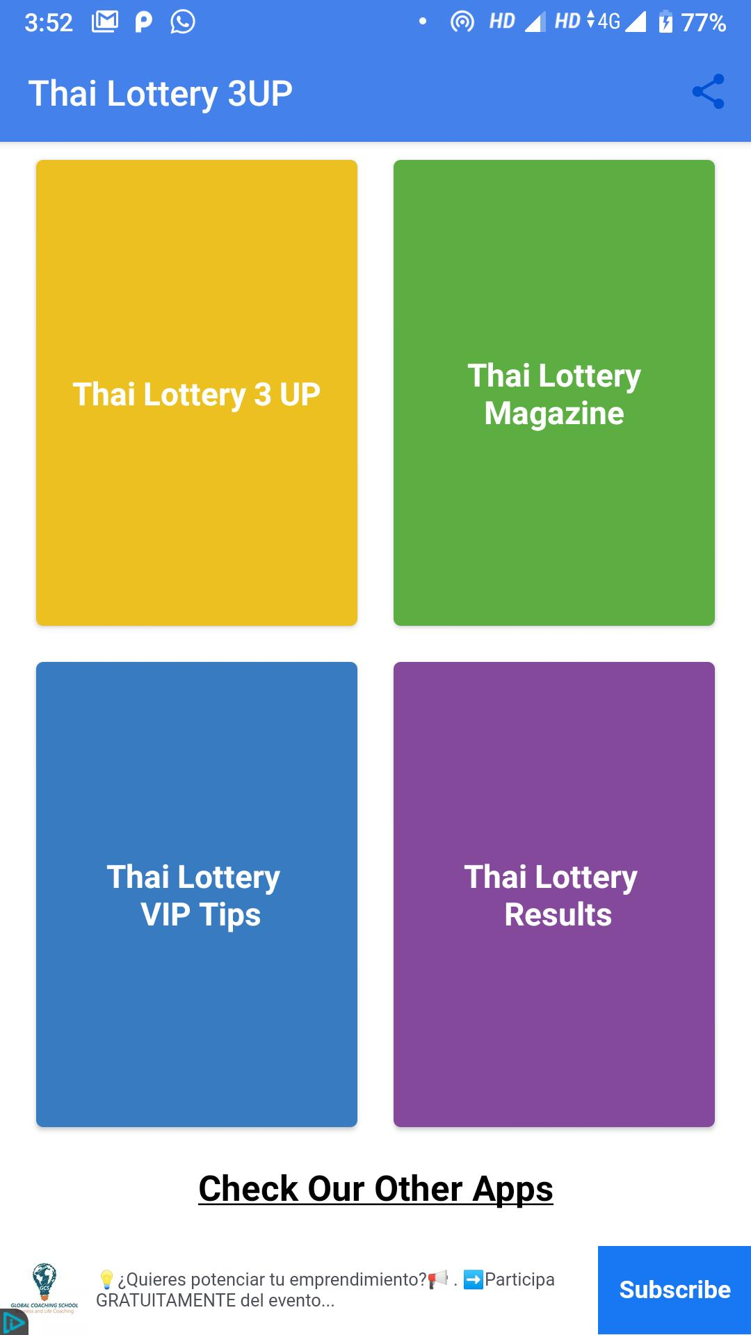 Thai Lottery 3UP poster