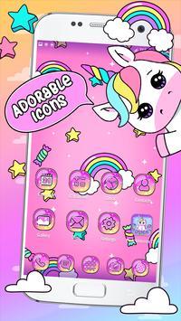 Pink Unicorn Theme Launcher screenshot 2