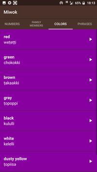 Miwok Language Application screenshot 2