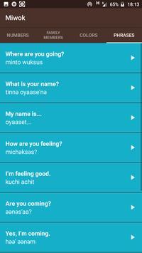 Miwok Language Application screenshot 3