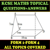MATHS KCSE TOPICAL (QUESTIONS + ANSWERS) FORM 1- 4 icon